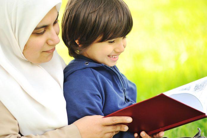 moslimmoeder en kind